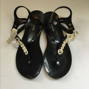 kate spade Shoes - Kate Spade thong plastic sandals size 6 Black